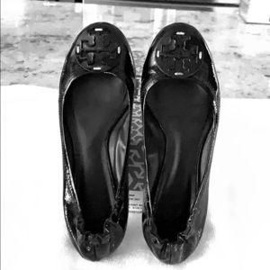 Tory Burch Black Patent Reva Ballet, size 7.5